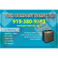 HVAC Weatherproof Service Call Sticker #19 (4.25x2.75)