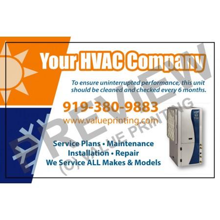 HVAC Service Call Sticker #21(4.25x2.75)