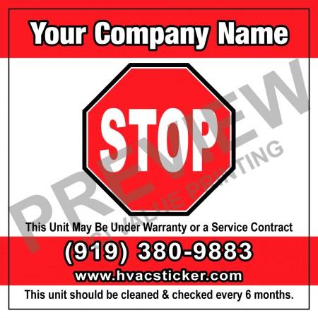 HVAC White Vinyl Business Stickers #6 (4x4)