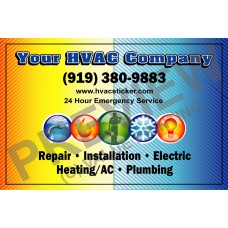 HVAC Writable Service Call Sticker #3 (4.25x2.75)