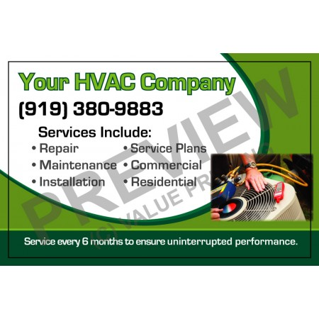 HVAC Service Call Sticker #4 (4.25x3.5)