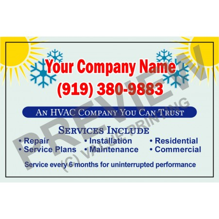 HVAC Service Call Sticker #9 (4.25x2.75)