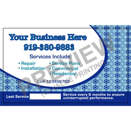 HVAC White Business Stickers #2 (3x5)