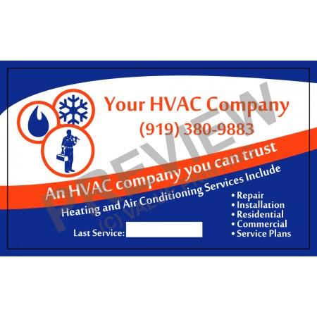 HVAC White Vinyl Service Call Labels #3 (4.25x3.5)