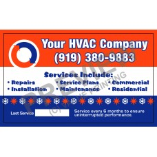 HVAC Writable White Vinyl Business Sticker #4 (3x5)