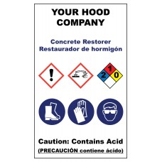 Concrete Hazardous Material Sticker (3 x 5)