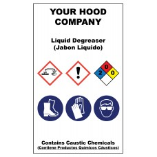 Liquid Degreaser Adhesive Hazardous Material Sticker (3 x 5)