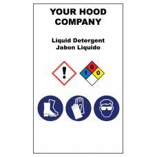 Liquid Detergent Hazardous Material Sticker (3 x 5)