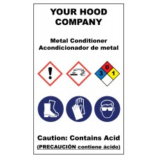 Metal Conditioner Hazardous Material Sticker (3 x 5)