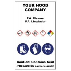 PA Cleaner Hazardous Material Sticker (3 x 5)