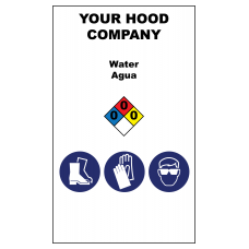 Water Hazardous Material Sticker (3 x 5)